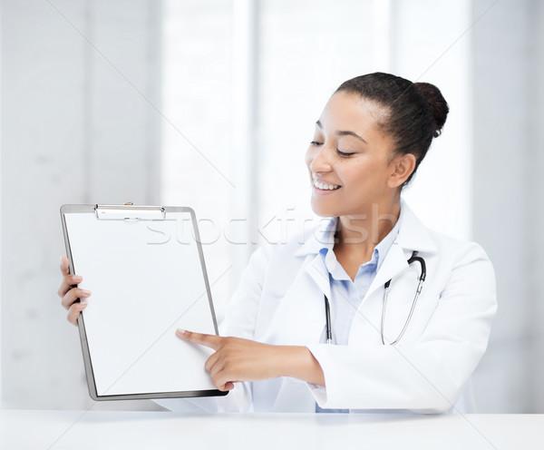 врач рецепт медицинской женщины стетоскоп Сток-фото © dolgachov