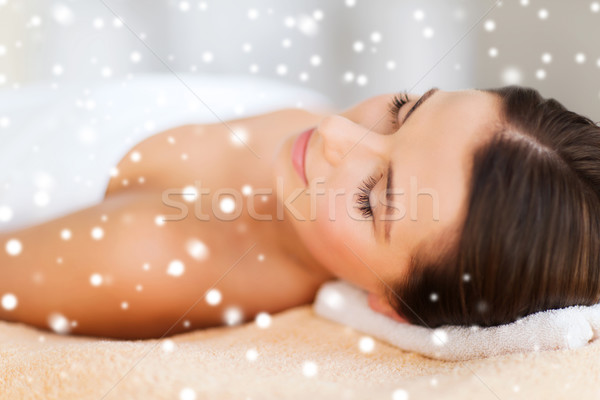 beautiful young woman in spa Stock photo © dolgachov