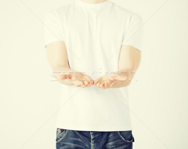 рук что-то человека знак Сток-фото © dolgachov
