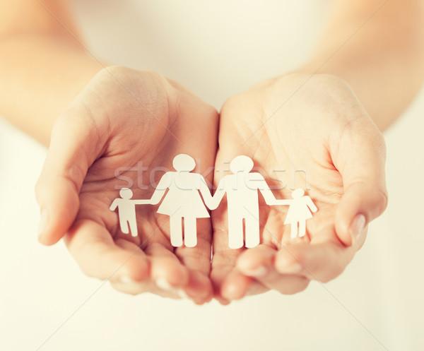 рук бумаги человека семьи Сток-фото © dolgachov