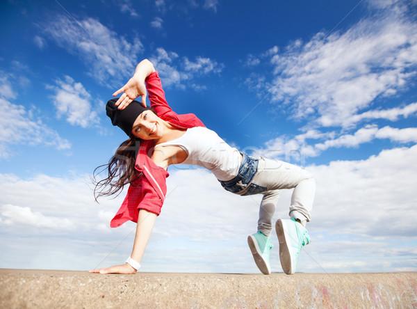 美しい ダンス 少女 運動 スポーツ 都市 ストックフォト © dolgachov
