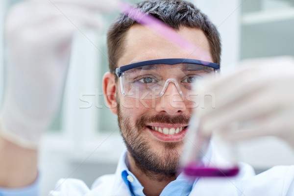 young scientist making test or research in lab Stock photo © dolgachov