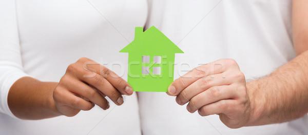 пару рук теплица недвижимости семьи Сток-фото © dolgachov