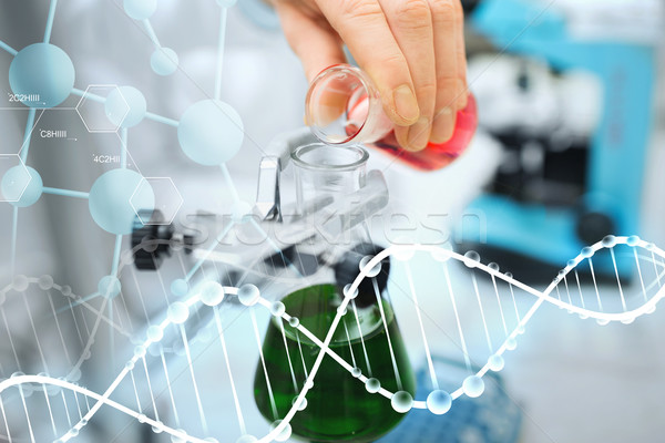 Сток-фото: ученого · заполнение · испытание · Трубы · лаборатория