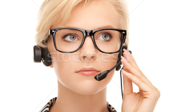 helpline operator Stock photo © dolgachov
