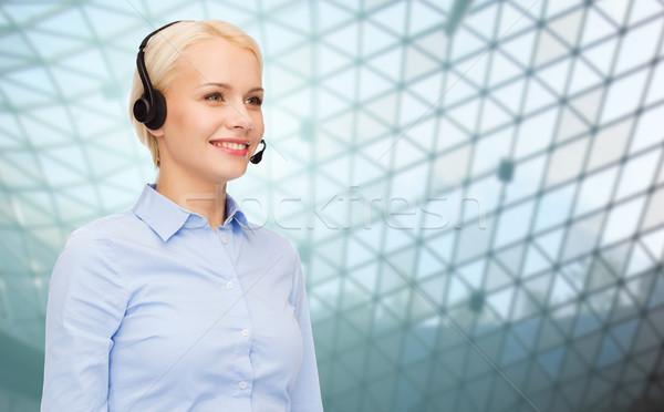 ヘルプライン 演算子 ヘッド グリッド ビジネスの方々  技術 ストックフォト © dolgachov