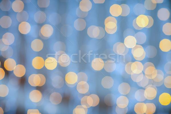 blurred glden lights background Stock photo © dolgachov