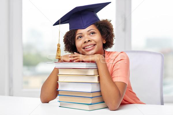 Feliz África soltero nina libros casa Foto stock © dolgachov