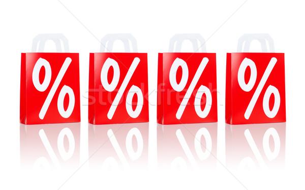 Molti rosso percentuale segno vendita Foto d'archivio © dolgachov