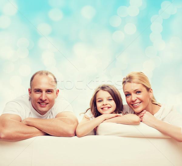 happy family at home Stock photo © dolgachov