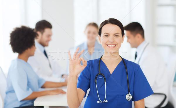 幸せ 医師 グループ 病院 クリニック 職業 ストックフォト © dolgachov