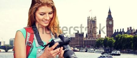 Közelkép boldog leszbikus pár Big Ben emberek Stock fotó © dolgachov