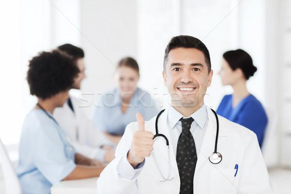 Stok fotoğraf: Mutlu · doktor · grup · hastane · klinik · meslek