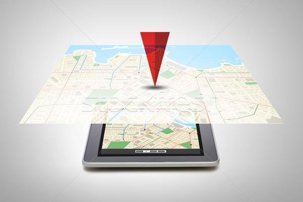 GPS Pokaż ekranu technologii nawigacja Zdjęcia stock © dolgachov
