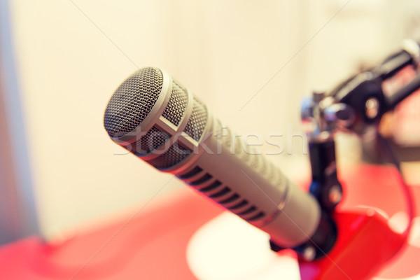 microphone at recording studio or radio station Stock photo © dolgachov