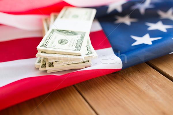 Amerikaanse vlag dollar cash geld budget Stockfoto © dolgachov