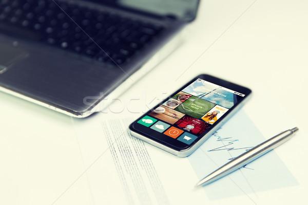 Haber uygulama iş teknoloji Stok fotoğraf © dolgachov