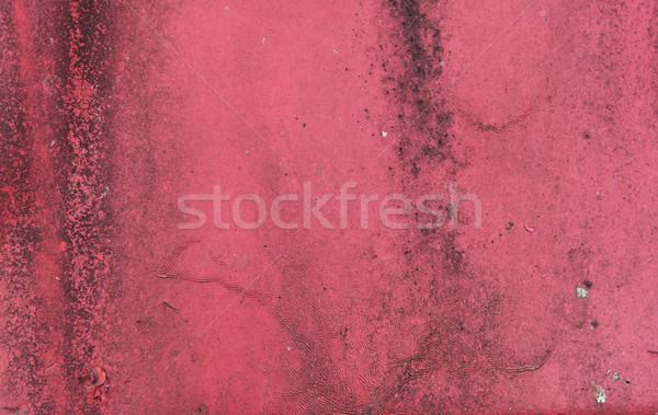 Vecchio arrugginito superficie metallica texture rosso Foto d'archivio © dolgachov
