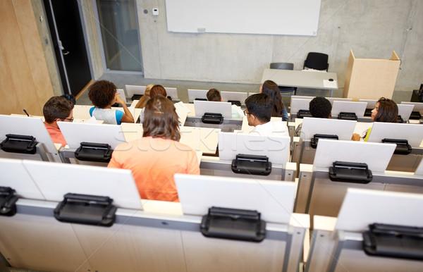 Międzynarodowych studentów uczelni wykład sali edukacji Zdjęcia stock © dolgachov