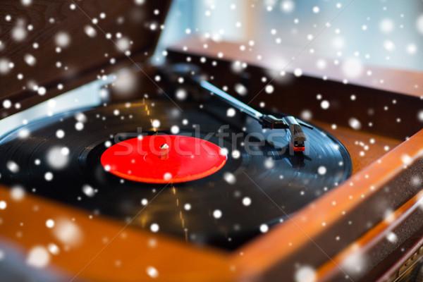 Vintage tocadiscos vinilo disco música Foto stock © dolgachov