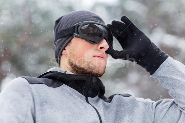 спортивных человека зима фитнес Сток-фото © dolgachov