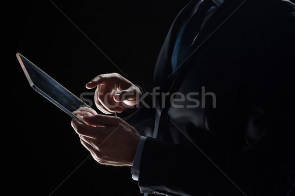 Imprenditore trasparente uomini d'affari futuro Foto d'archivio © dolgachov