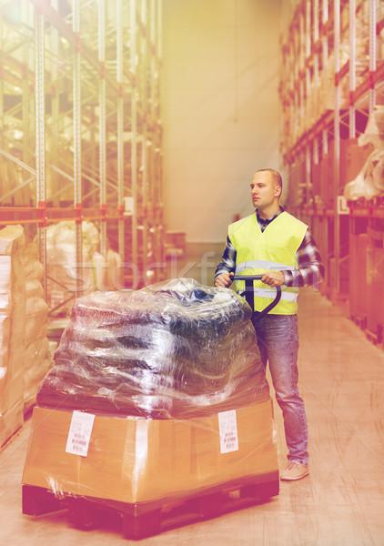 Stockfoto: Man · goederen · magazijn · groothandel