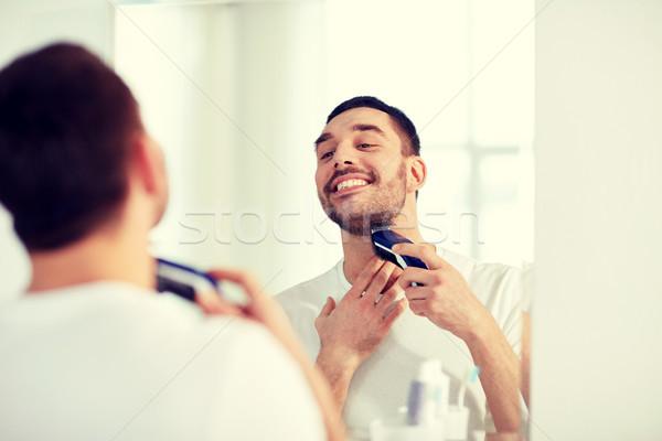 Férfi szakáll körülvágó fürdőszoba szépség higiénia Stock fotó © dolgachov