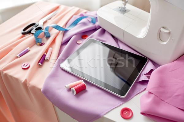 ミシン はさみ 定規 裁縫 技術 ストックフォト © dolgachov