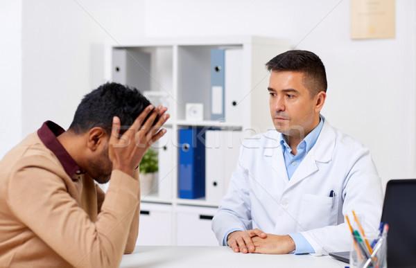 врач несчастный мужчины пациент больницу медицина Сток-фото © dolgachov