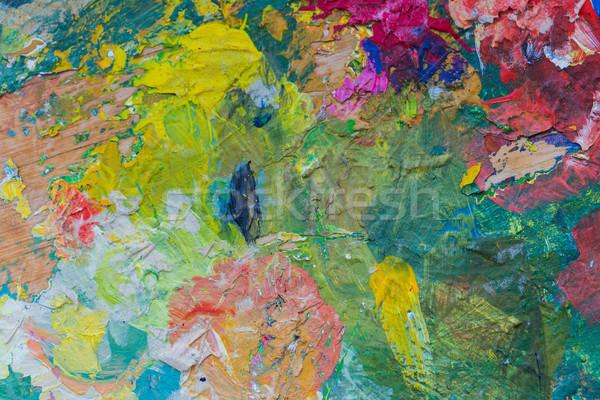 Kolorowy malarstwo kreatywność farby Zdjęcia stock © dolgachov