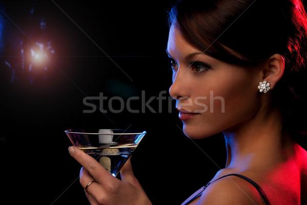 ナイトライフ 画像 美しい 若い女性 カクテル 女性 ストックフォト © dolgachov
