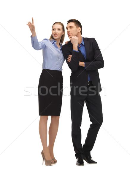 男 女性 作業 虚数 画像 ストックフォト © dolgachov