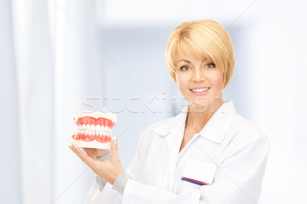 doctor with jaws Stock photo © dolgachov