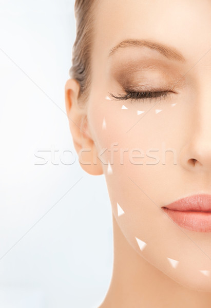 Stock photo: woman ready for cosmetic surgery