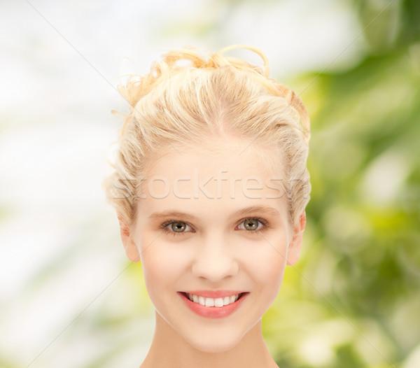 Cara belo sorridente saúde beleza Foto stock © dolgachov