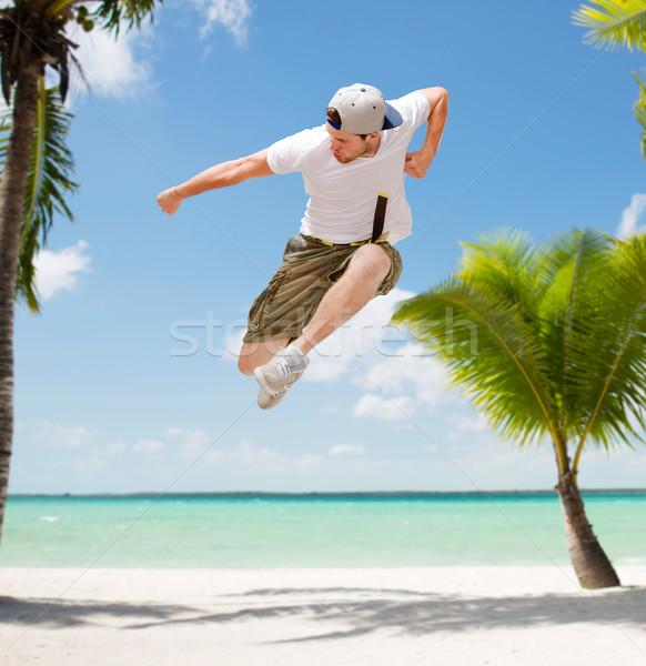 Stok fotoğraf: Erkek · dansçı · atlama · hava · dans · yaz