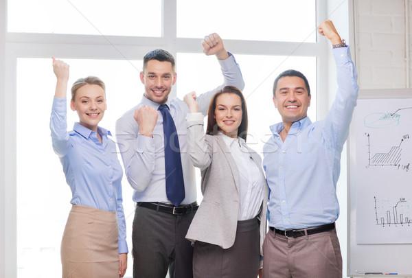 Zespół firmy zwycięstwo biuro działalności sukces Zdjęcia stock © dolgachov