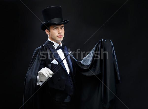 Mago superior sombrero varita mágica truco Foto stock © dolgachov
