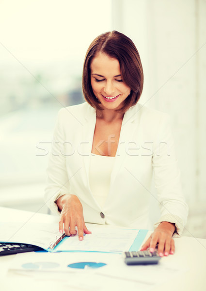 Imprenditrice lavoro mutui ufficio business donna Foto d'archivio © dolgachov