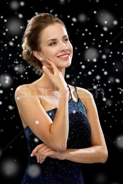 笑顔の女性 イブニングドレス 人 冬 休日 クリスマス ストックフォト © dolgachov