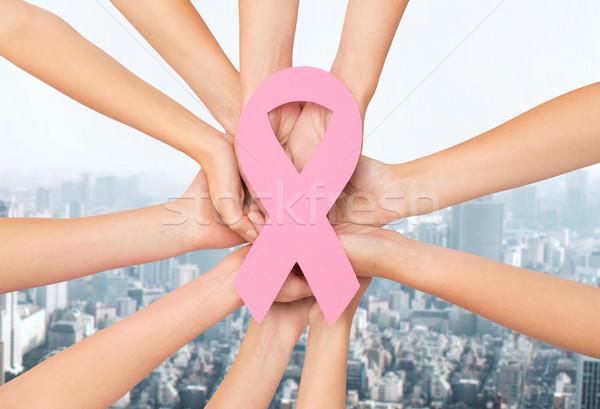 Mani cancro consapevolezza simbolo sanitaria Foto d'archivio © dolgachov