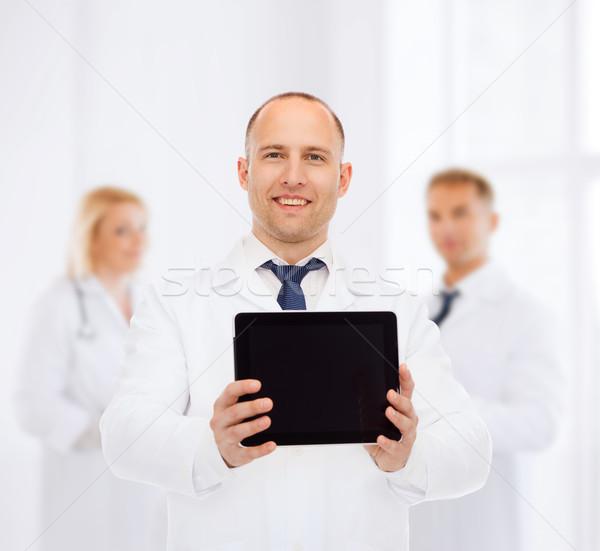 Stok fotoğraf: Gülen · erkek · doktor · tıp · Filmi · takım · çalışması