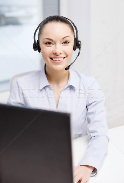 Dostça kadın yardım hattı operatör iş iletişim Stok fotoğraf © dolgachov