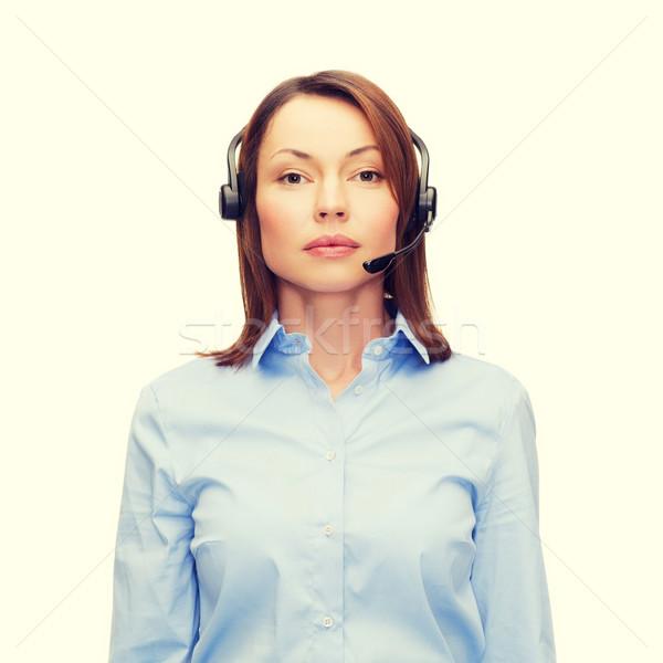 Amistoso femenino línea de ayuda operador negocios tecnología Foto stock © dolgachov