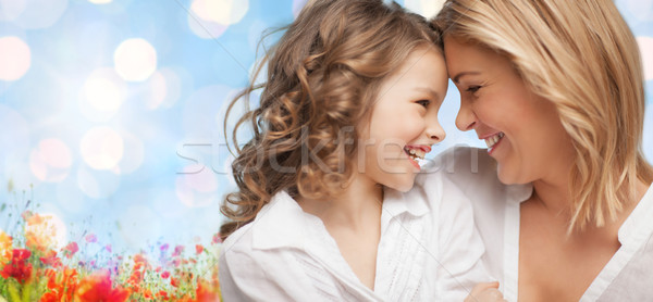 happy mother and daughter Stock photo © dolgachov