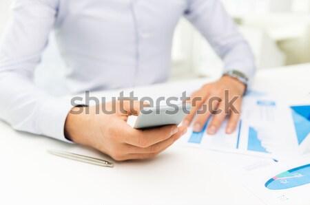 üzletember táblagép iroda üzlet iskola oktatás Stock fotó © dolgachov