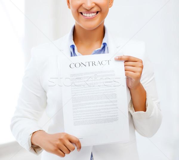африканских деловая женщина договор бизнеса служба Сток-фото © dolgachov