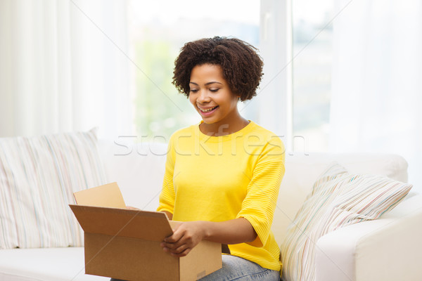 Foto stock: Feliz · África · paquete · cuadro · casa