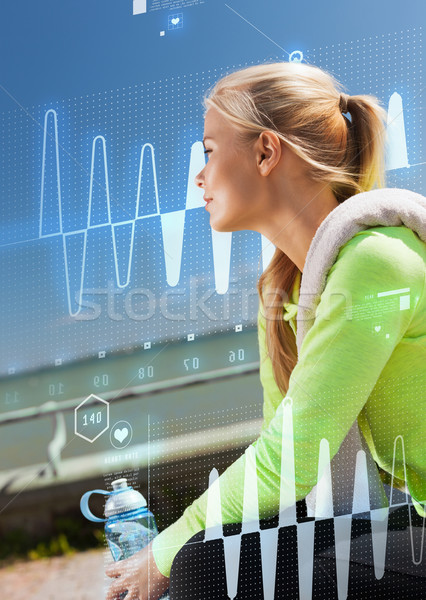 woman resting after doing sports outdoors Stock photo © dolgachov